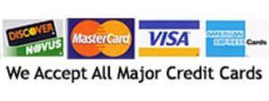 We Accept all Major Credit Cards Logo - Elegant Limousine Transportation